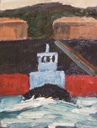 A tug leaving Kurnell